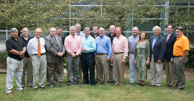 The FWF Advisory board outside of the Plant Biotechnology Building.