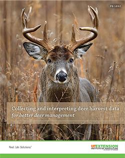 "Cover image for ""Collecting and interpreting deer harvest data for better deer management,"" PB 1862."